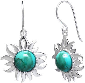 JCPenney FINE JEWELRY Enhanced Turquoise Filigree Sterling Silver Sun Earrings