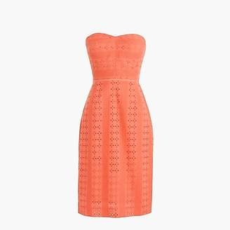 J.Crew Tall strapless sheath dress in eyelet
