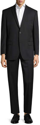 Andrew Marc Marc By Striped Logo Notch Lapel Suit