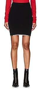Alexander Wang Women's Grommet-Embellished Compact Knit Miniskirt - Black