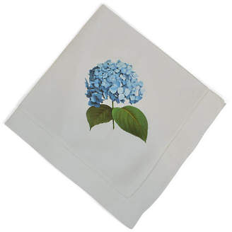 Hydrangea Dinner Napkin - White - The French Bee