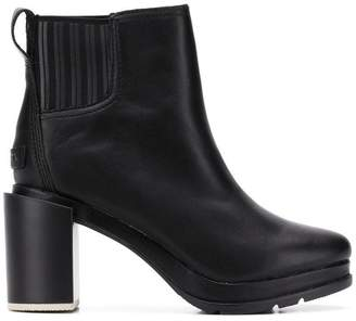 Sorel chunky heel ankle boots