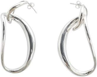 Olsen Louise Silver Metal Earrings