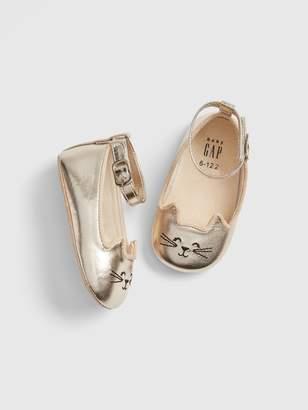 Gap Baby Metallic Cat Ballet Flats