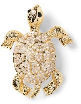 Banana Republic Pearl Turtle Brooch