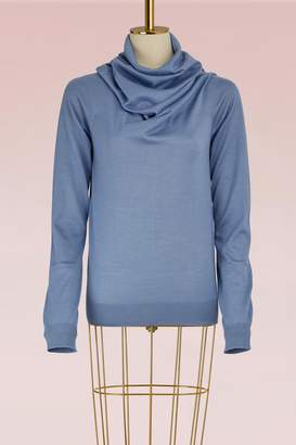 Jil Sander Wool and Silk Sweater