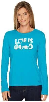 Life is Good Dog Silo Long Sleeve Crusher Tee Women's Long Sleeve Pullover
