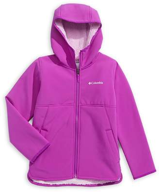 Columbia Girl's Winter Whirl Softshell Full-Zip Fleece Jacket