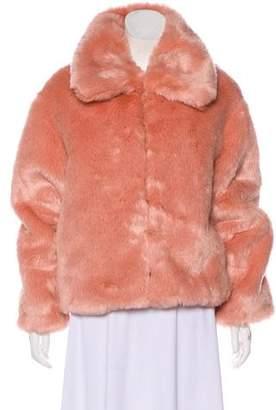 Pam & Gela Collared Faux Fur Jacket w/ Tags