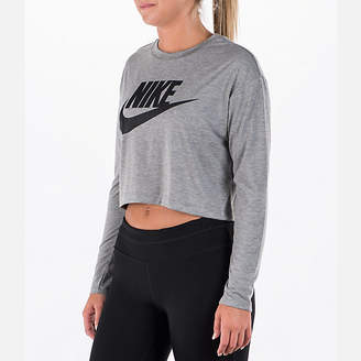 Nike Women's Sportswear Essential Crop Long Sleeve Top