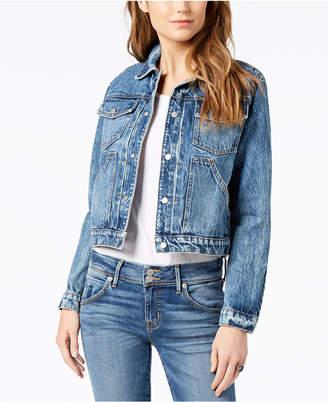 Hudson Cotton Cropped Denim Jacket