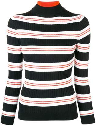 Courreges striped fitted sweater