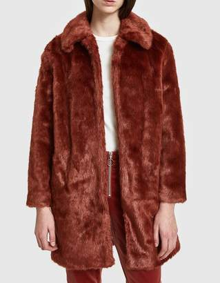 Frame Faux Fur Coat in Spice