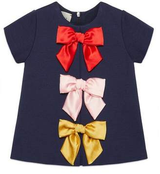 Gucci Baby viscose dress with bows
