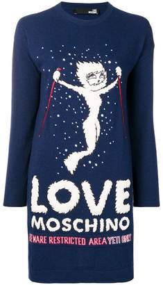 Love Moschino Yeti Girl knitted dress