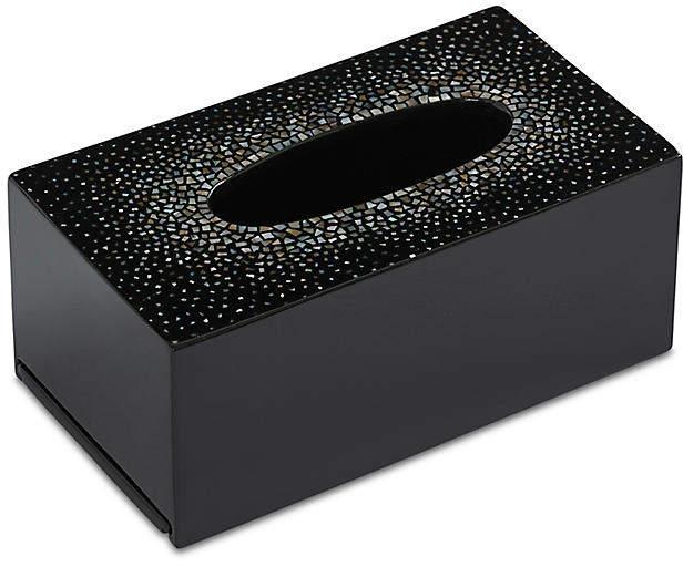 Dappled Tissue Box Cover - Black