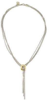 David Yurman Two-Tone Tassel Lariat Necklace