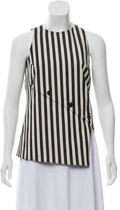 Altuzarra Striped Asymmetrical Top Black Striped Asymmetrical Top