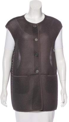 Peserico Mesh Button-Up Vest