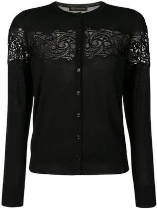 Versace baroque lace cardigan