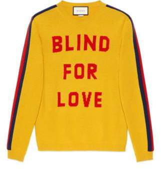 "Gucci ""Blind for Love"" and wolf wool sweater"