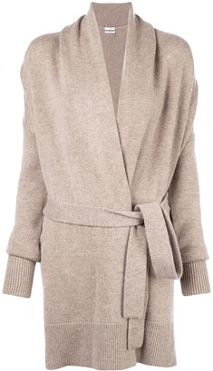 Co oversized belted cardigan