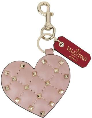 Valentino Rockstud Spike heart keychain