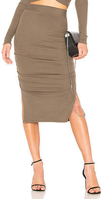 LAmade Gathered Midi Skirt