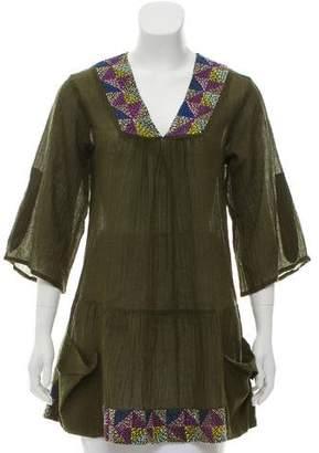 Roberta Freymann Embroidered Wool Tunic
