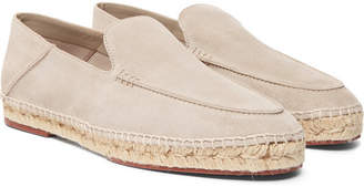 Seaside Walk Collapsible-Heel Suede Espadrilles