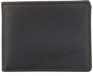 Nike Men's Modern Sleek Leather Billfold Wallet