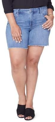 NYDJ Jenna Frayed Denim Shorts