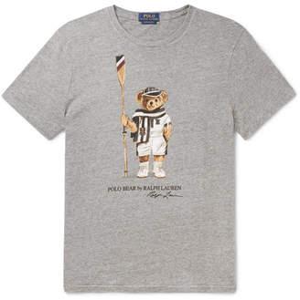 Polo Ralph Lauren Printed Mélange Cotton-Jersey T-Shirt