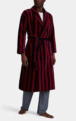 Derek Rose Men's Aston Striped Velour Robe