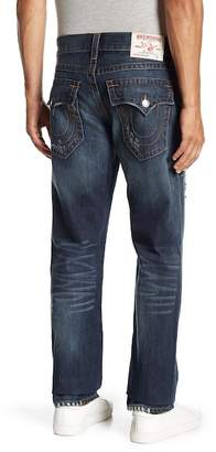 True Religion Distressed Straight Leg Jeans