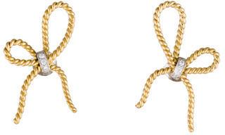 Vera Wang 18K Diamond Bow Earrings $425 thestylecure.com