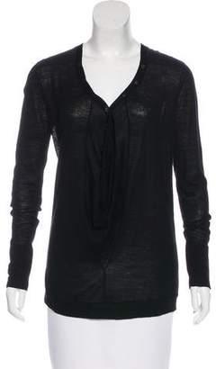 Thakoon Wool Silk-Accented Cardigan