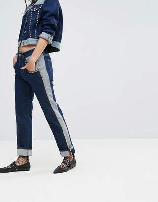 Tommy Hilfiger Gigi Hadid Mid Rise Crop Straight Jean With All Over Studs