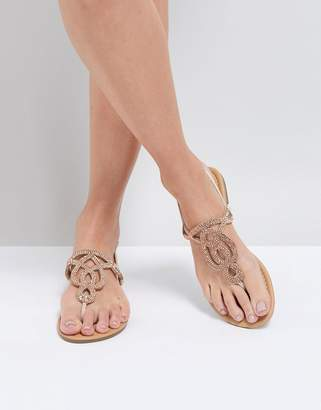 Park Lane Embellised Flat Sandals