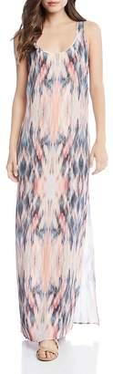 Karen Kane Abstract Ikat-Print Maxi Dress