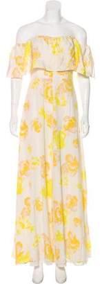 Amanda Uprichard Printed Off-The-Shoulder Dress