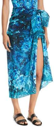 Gottex Emerald Isle Silk Pareo Coverup, One Size