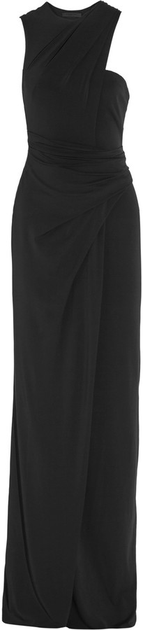 Alexander WangAlexander Wang One-shoulder draped stretch-crepe gown