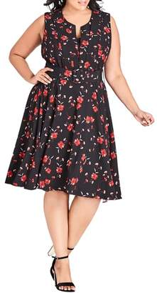 City Chic In Love Floral Dress