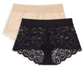 Commando Two-Pack Lace Boyshorts