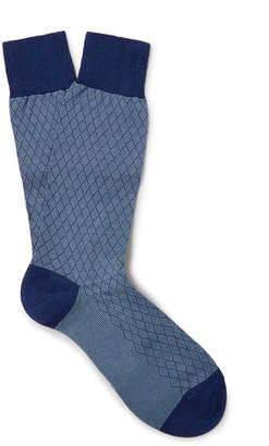 Pantherella Forsyth Patterned Cotton-Blend Socks $30 thestylecure.com