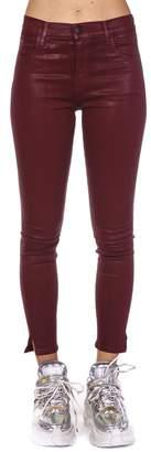 J Brand Burgundy Cotton Jeans
