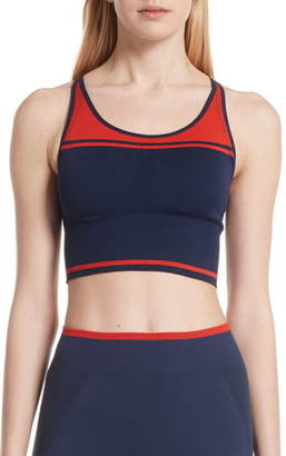Tory Sport Two-Tone Seamless Camisole Long Bra
