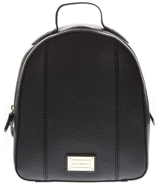 Emporio Armani Black Faux Leather Backpack