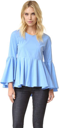 Milly Kat Cotton Poplin Top $350 thestylecure.com
